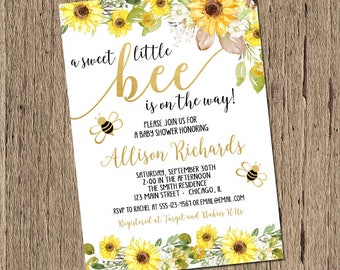 Bumble bee baby shower Etsy