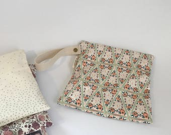 Small Leak Proof Organic Cotton Wet Bag in Secret Garden