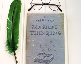 Magical Thinking A5 Notebook - Witches & Wizards - Back to School Gifts - Geek Gift - Notepad Jotter - Journal - Wizardry - Magic Book