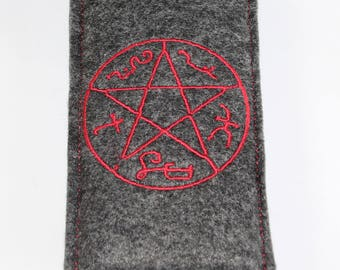 Supernatural inspired cell phone pouch - Devil's Trap