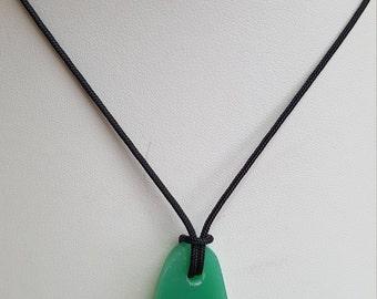 Chrysoprase Pendant Necklace, Free Shipping (E17056), Chrysoprase Necklace, Pendantlady,pq