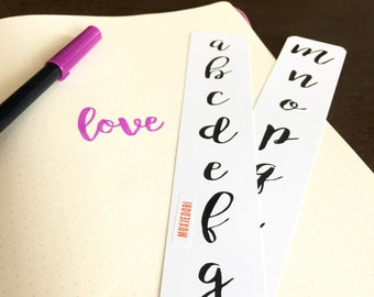Hand lettering worksheets calligraphy tutorial printable