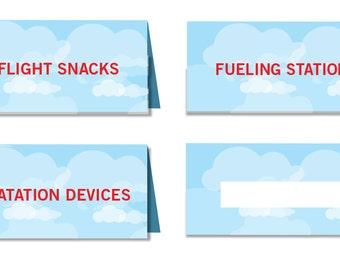 VIntage Airplane, Food labels - PRINTABLE