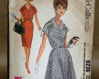 Vintage McCalls #6236 dress sewing pattern