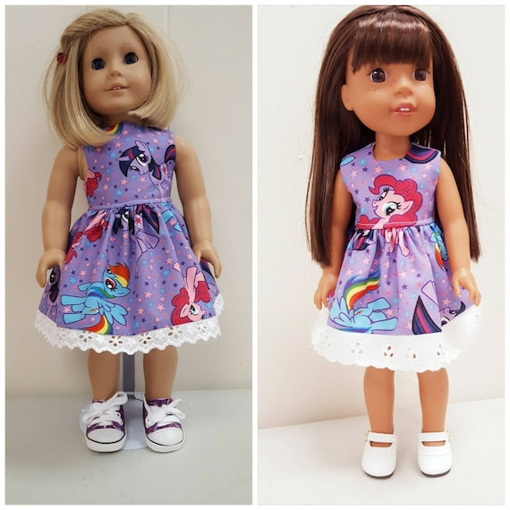 My Little Pony  Dress  American Made to Fit 18 or 14.5 Inch Dolls.