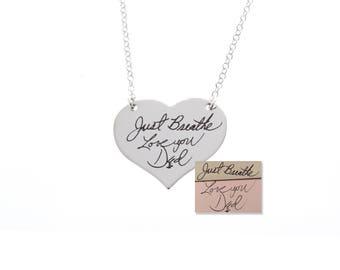 Handwriting Necklace, Handwriting Gifts, Memorial Gifts, Personalized Necklace, Memorial Gifts, Custom Handwriting, Handwriting Jewelry