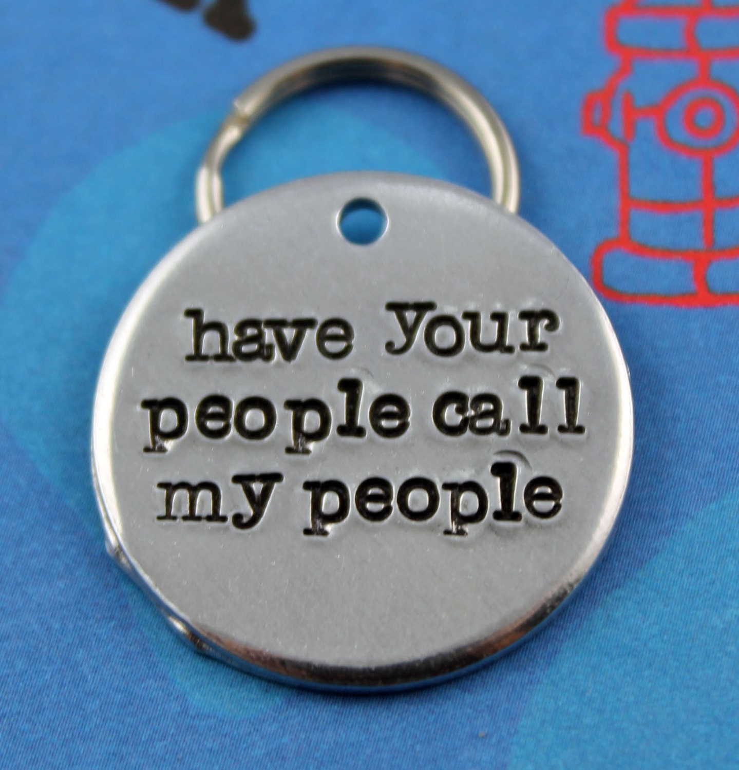 Handstamped Aluminum Pet ID Tag Personalized Unique Dog Name