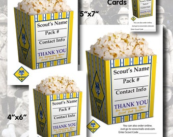 Instant Download - Cub Scout Popcorn Sales Cards 2 - Salesmen, Order, Scouting, BSA, Trail's End, Popcorn, Printable, Calling Card