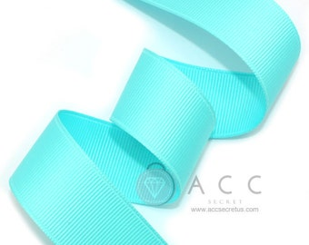 5Yards Mint Solid Grosgrain Ribbon - 5mm(2/8''), 10mm(3/8''), 15mm(5/8''), 25mm(1''), and 40mm(1 1/2'')