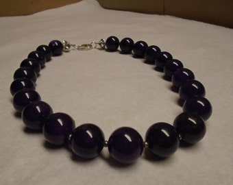 Large Amethyst Bead Necklace