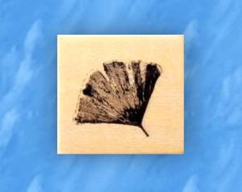 GINGKO LEAF mounted rubber stamp, Asian, Japanese, Chinese, nature, oriental, Sweet Grass Stamps No.12