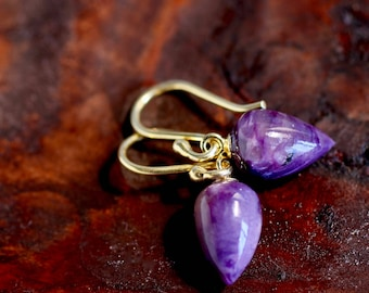 Color of the Year 2018 Purple Earrings Chariote Earrings Ultra Violet Earring Gemstone Earring Gift For Her Jewelry Present Small Earrings