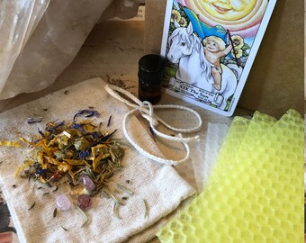 THE SUN ***Joy and Happiness*** Spell/Ritual/Intention candle making kit