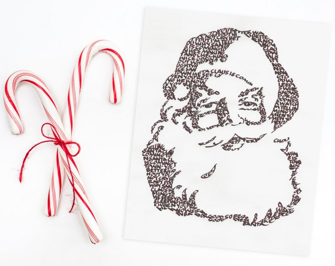 Santa Claus is Coming to Town - A Limited Edition Print of a Hand-lettered Image using the Carol