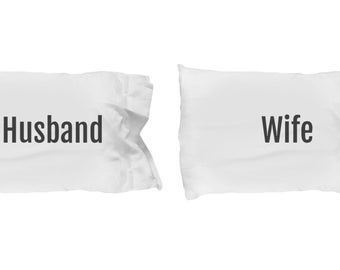 Husband and wife pillowcases