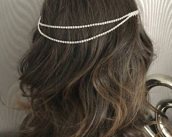 hair chain - bridal hair chain - bridal hair accessories - wedding hair - Hair chain - Boho head chain - Hair accessory - Bridal hair