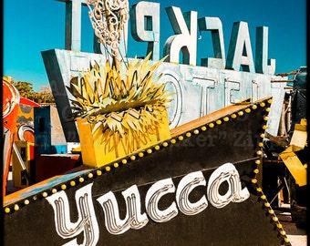 Las Vegas Neon Boneyard, Yucca Jackpot Sign, Retro Neon Light Art Print, Kitsch Art, Neon Museum, Las Vegas Art