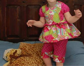 PDF Pattern Ruffled Pj Pattern, Girl Pajama Pattern, PJ sewing Pattern, Nightgown Pattern