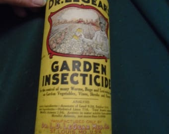Early Dr. LeGear's Garden Insecticide Container with Contents