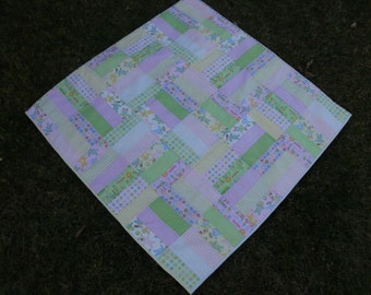 Baby girl strips quilt