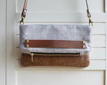 Metallic bag, leather bag, silver bag, clutch bag, silver clutch, cross body bag, purse bag, metallic purse bag