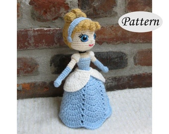CINDERELLA - Amigurumi Pattern Crochet Doll Pattern Amigurumi Princess Pattern - Tutorial PDF - Plush Doll Girl