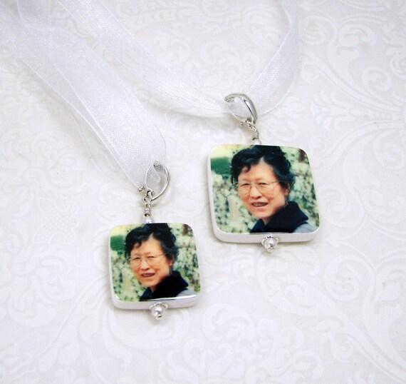 2 Wedding Bouquet Memorial Charms - 1 Medium Charm, and 1 Small Charm - BCSx2