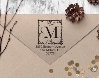 "Return Address Stamp, Vintage Address Stamp, Housewarming Gift, DIYer Gift, Wedding Gift. Custom Address Stamp 2"" x 2"" - A57"