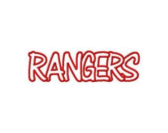 Instant Download Rangers Embroidery Machine Applique Design-953