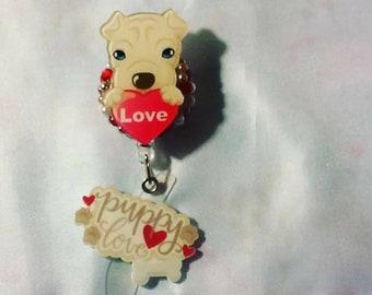 Puppy love RN badge reel ID Holder