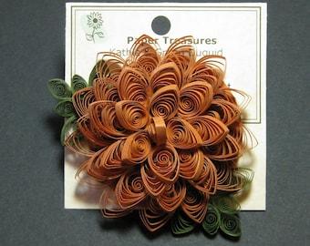 Pumpkin Mum Pin