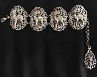 Kitsch Kawaii Bambi Deer vintage bracelet