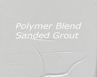 Soft SILVER GRAY 2 Pounds Mosaic Tile Grout Sanded Polymer Fortified for Home Projects - Just Add Water