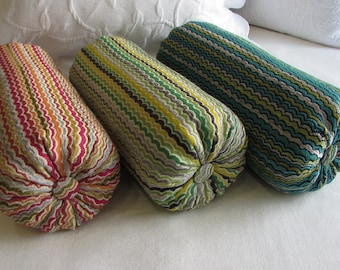 CHENILLE Bolster pillow  6x14 6x16 6x18 6x20 6x22 choose colors in color choice