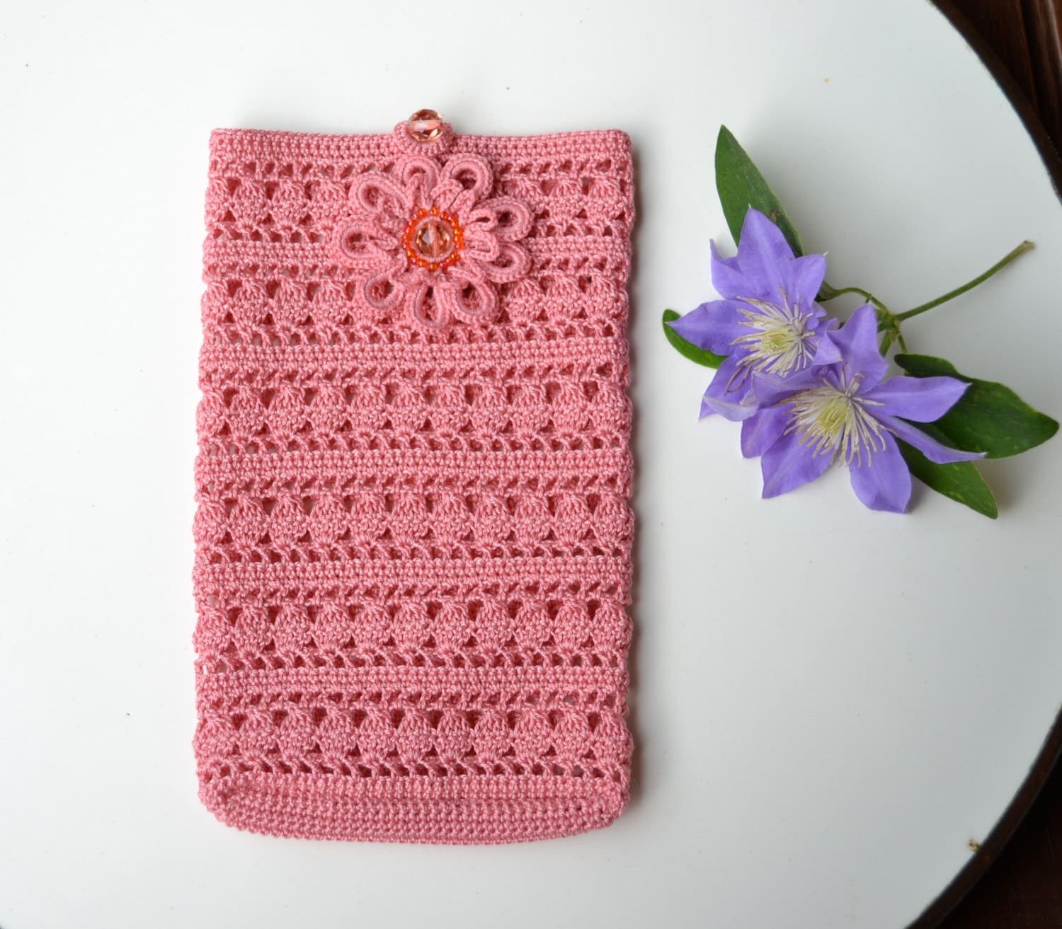 Crochet smartphone cover pattern crochet case phone zoom dt1010fo