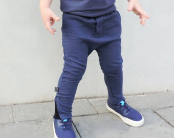 Boys Harems Pants - Harem Pants Kids - Toddlers Harem Pants - Baby Harem Pants - Cool Boy Toddler Clothes - Blue Harem Pants - by PetitWild