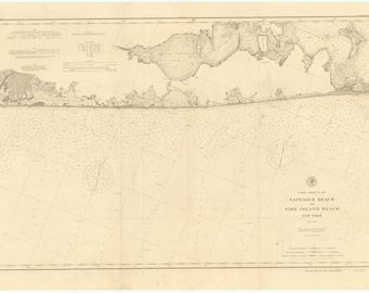 Napeague Beach to Fire Island Beach Map 1897