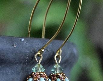 Swarovski Green Peridot Earrings