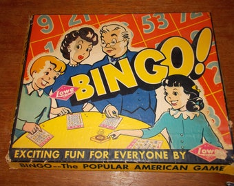 Vintage Bingo Game from Lowe's 1941