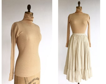1970's Soft Rib Knit Turtleneck