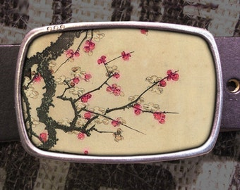 Cherry Blossoms Belt Buckle - 621, Gift for Him, Gift for Her, Husband  Gift, Wife  Gift Groomsmen Wedding