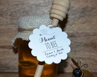 Meant to Bee Favors, Meant to Bee Label, Bee Bridal Shower, Meant to Bee Shower, Bridal Shower, Wedding Shower