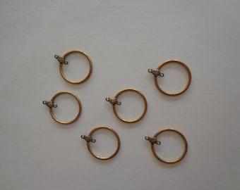 Vintage Brass 20mm Earring/Pendant Hoop Components (3 pair)