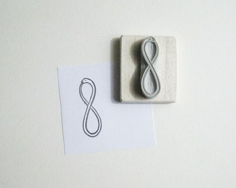 Snake Infinity Symbol Hand-Carved Rubber Stamp