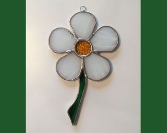 Handmade Stained Glass Daisy Suncatcher