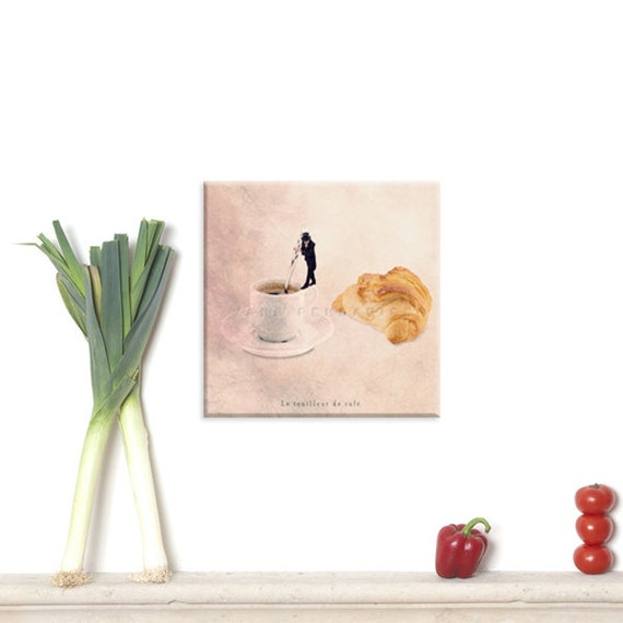 Canvas Gallery Wrap, Wall Art Canvas, Photo Canvas Prints, Home Kitchen, Kitchen art , French parisian decor, Coffee Photo, Cafe print