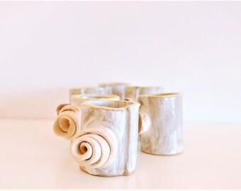 Handmade ceramic espresso cups