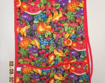MadieBs Colorful Fruit Farmers Market  Smock Cobbler Apron