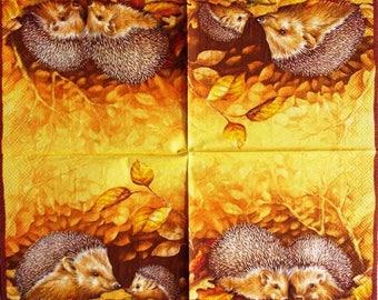 PAPER TOWEL #AN105 Hedgehog family