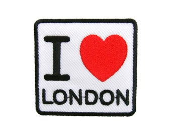 I Love London Embroidered Applique Iron on Patch